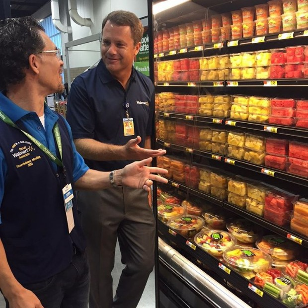 McMillon Seeing Cut Fruits in Walmart