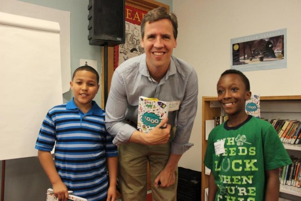 Jeff Kinney with Joel Torres and Thierry Jacques