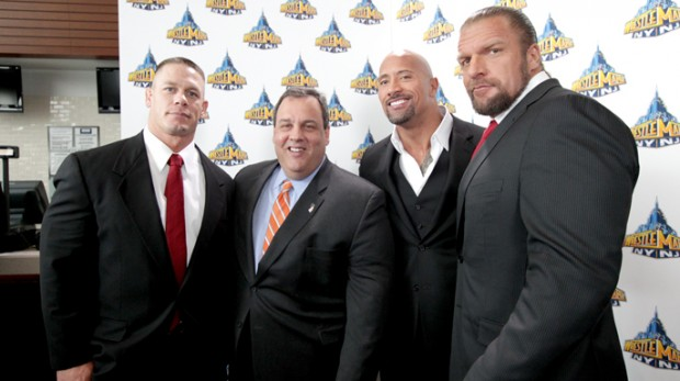 Rock with Triple H and John Cena