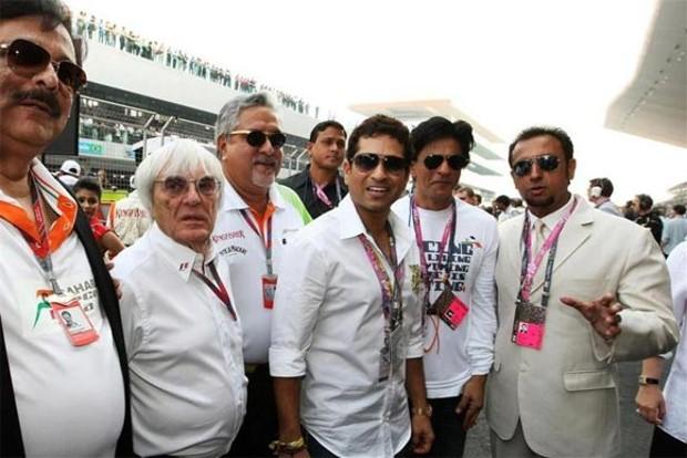 Vijay Mallya With Sachin Tendulkar and Shah Rukh Khan