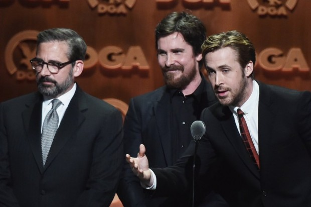 Christian Bale, Steve Carell and Ryan Gosling