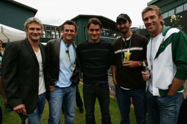 Roger Federer With Friends