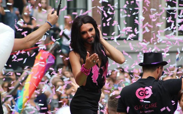 Conchita Wurst at Amsterdam Pride 2014