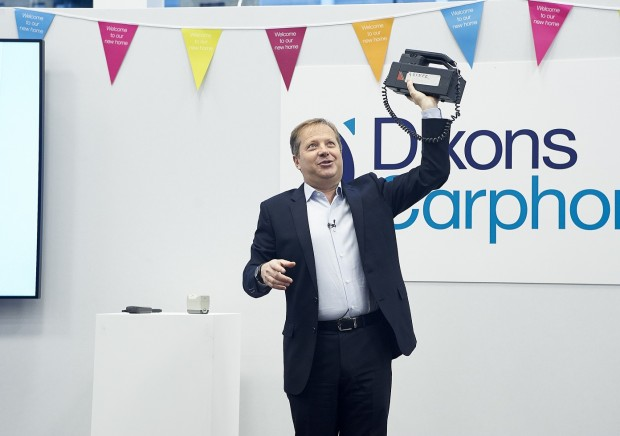 Dixons Carphone Chairman Sir Charles Dunstone gave a presentation on how telephones have Changed