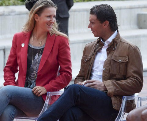 Azarenka and Nadal off court