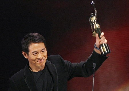 Jet Li with HongKong Award
