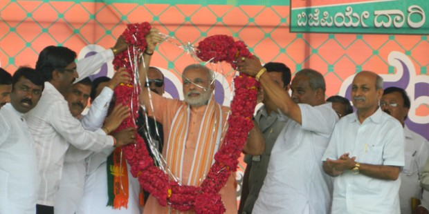 Modi at Election Campaign in Karnataka,India