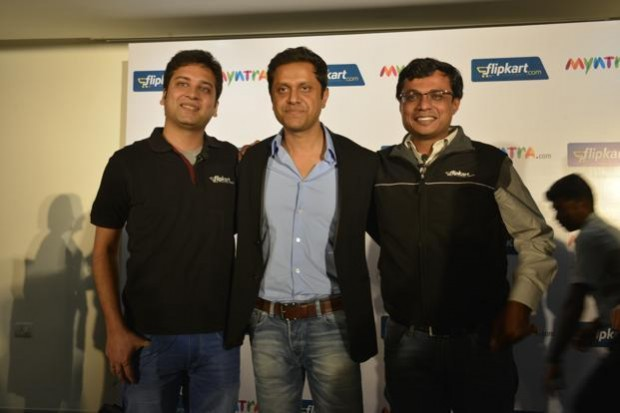 Sachin Bansal with Binny Bansal and Mukesh Bansal