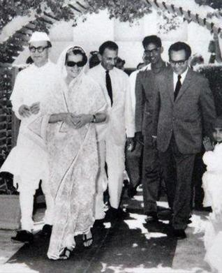J.R.D. Tata at TATA With Indira Gandhi