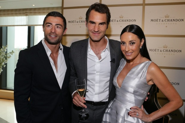 Roger Federer With Anthony Minichiello and Terry Biviano