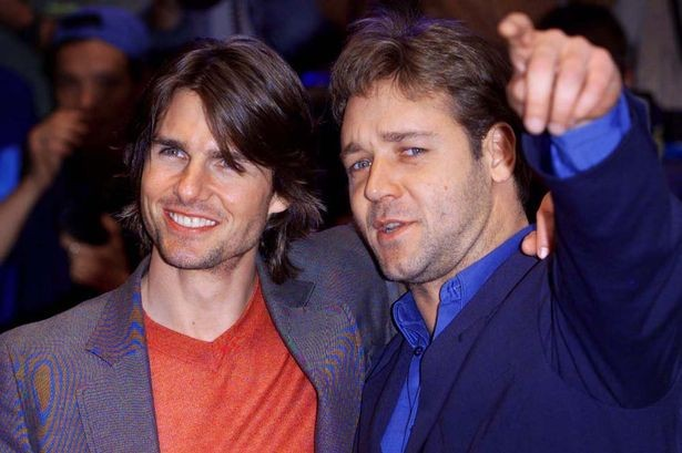 Russell Crowe with Tom Cruise