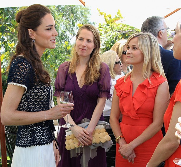 Reese Witherspoon with Kate Middleton