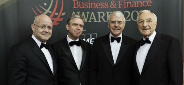 John Major at Business & Finance Awards
