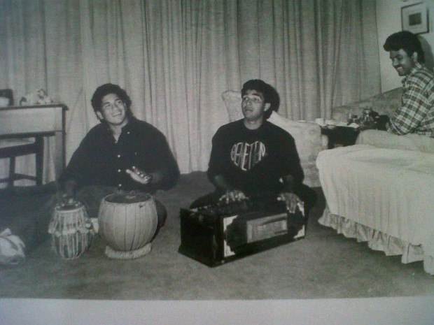 Master Playing Tabala with His Friend in His Childhood