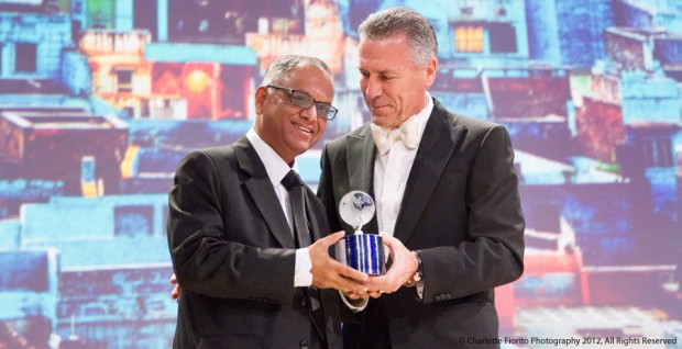 Narayana Murthy Honored with The Global Humanitarian Award