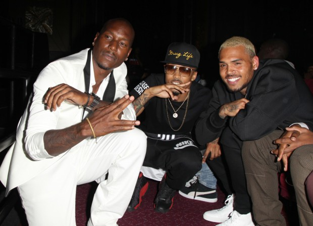 August Alsina with Chris Brown and Tyrese at Hip-Hop Awards