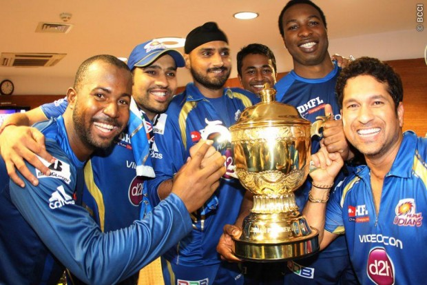 Rohit Sharma With Mumbai Indians Team
