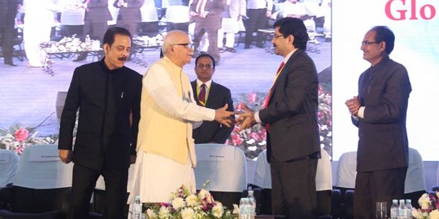 Kumar Mangalam Birla With L.K. Advani