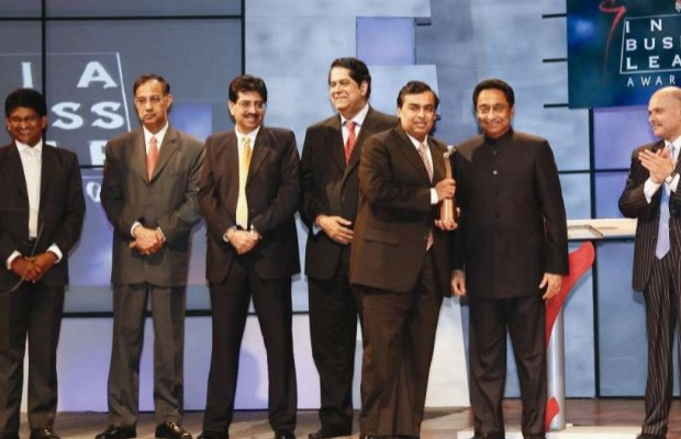 Mukesh Ambani Receiving Outstanding Business Leader of the Year Award