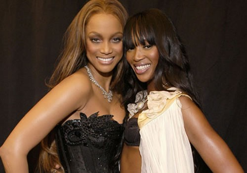Tyra Banks With Naomi Campbell