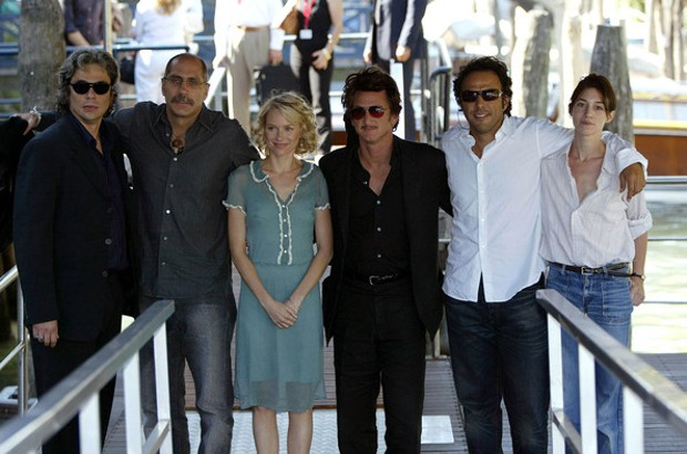 Alejandro Gonzalez Inarritu and Sean Penn At Venice Film Festival