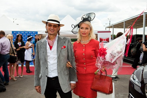 Leonid Fedun With His Wife