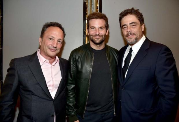 Benicio Del Toro, Bradley Cooper and Louis D'Esposito at event of Guardians of the Galaxy