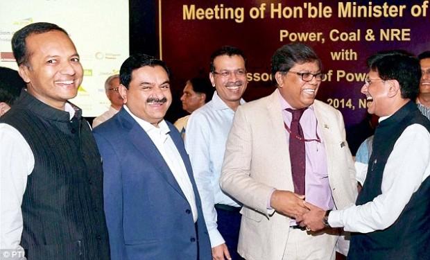 Gautam Adani with Coal Minister Piyush Goyal