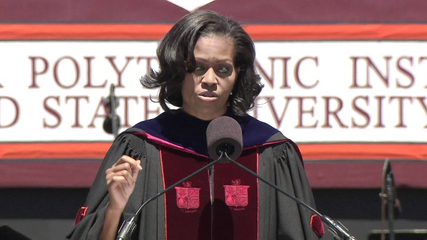 Michelle Obama  commencement speech at Virginia Tech