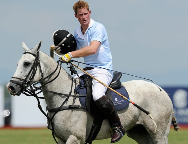 Prince Harry Playing Polo For Charity