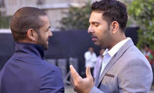 Shikhar Dhawan with Yuvraj Singh