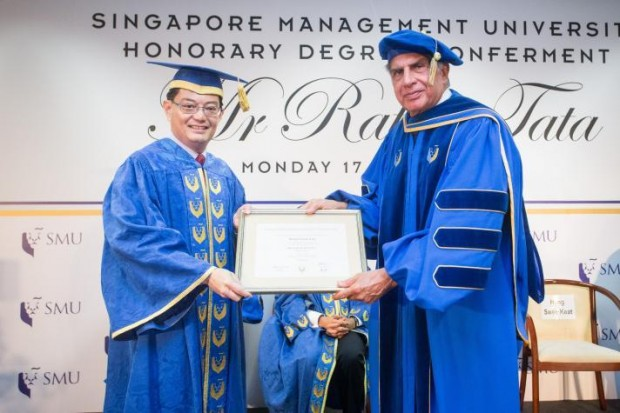Singapore Management University Honored Ratan Tata with a Doctorate