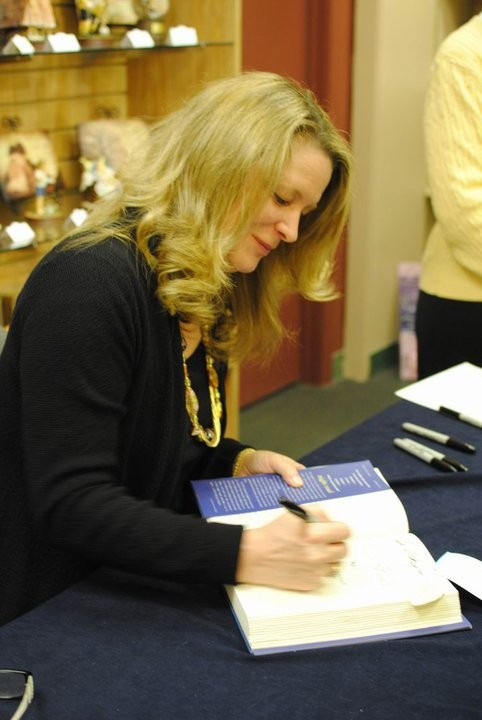 Kristin at Book Signing in Naperville