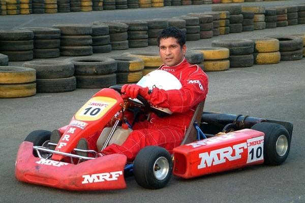 Tendulkar at Go Karting