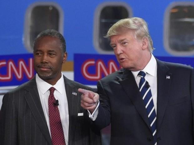 Ben Carson with Donald Trump