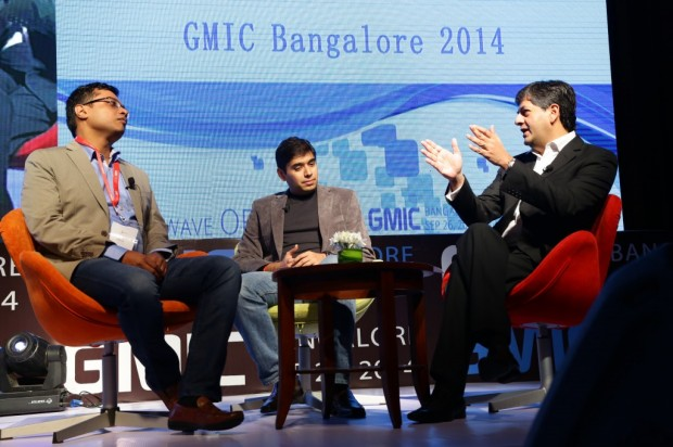 Sachin Bansal at GMIC Conference Along with Naveen Tewari and Vikram Chandra