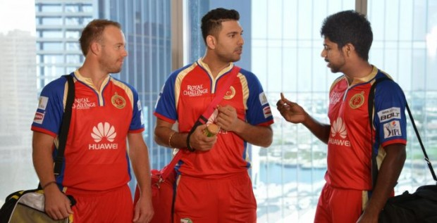 AB devilliers with Yuvraj Singh During a Commercial Ad