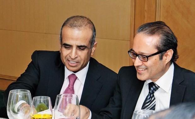 Sunil Mittal with Vineet Jain