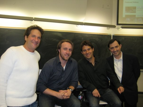 Chad Hurley, Richard Rosenblatt, Peter Guber, and Patrick Verron