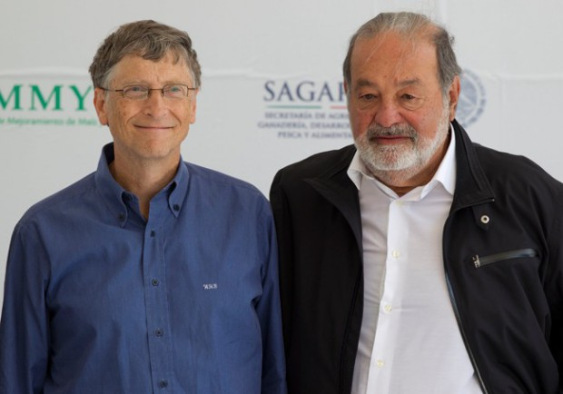 Mexico's Carlos Slim with Bill Gates