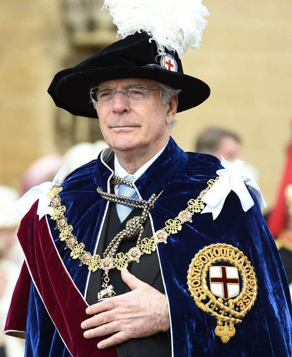 Sir John Major was made a knight in 2005
