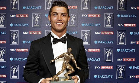 Cristiano Ronaldo Collects the Sports Writers' Player of the Year award