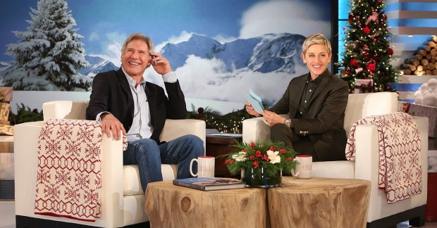 Harrison Ford on The Ellen DeGeneres Show For a Charity