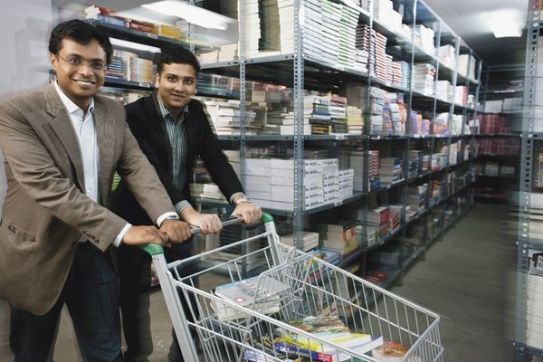 Sachin Bansal and Binny Bansal at Flipkart Book Store