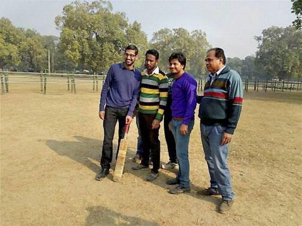 Sundar Pichai Playing Cricket