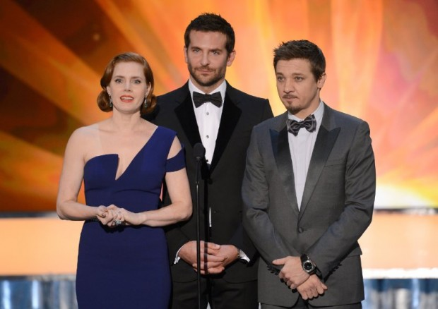 Amy Adams, Bradley Cooper and Jeremy Renner at Screen Actors Guild Awards