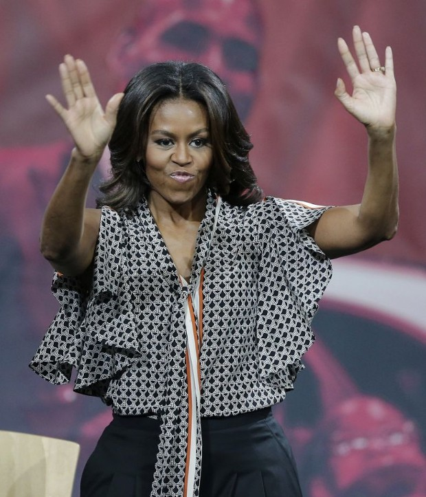 Michelle Obama Giving Speech at University of Akron