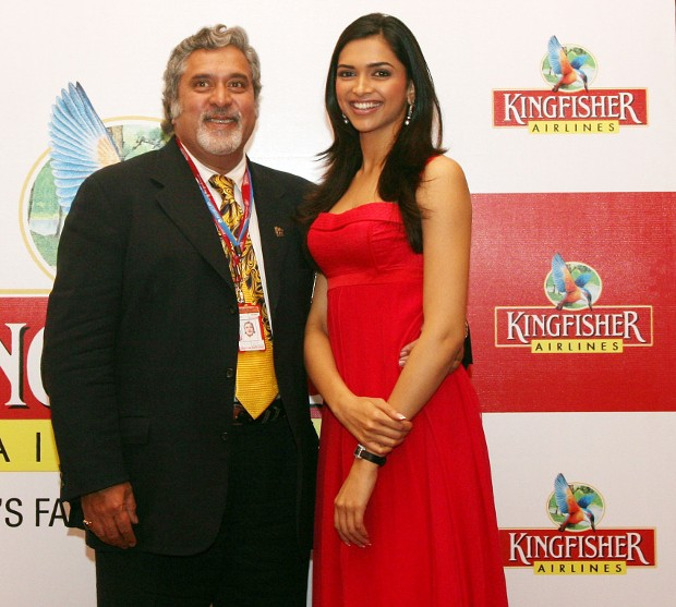 Vijay Mallya With Deepika Padukone