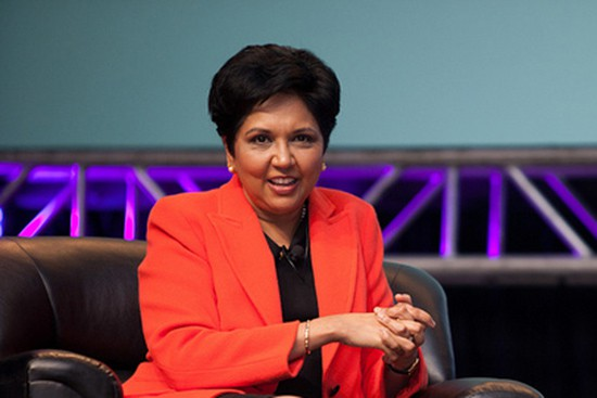PepsiCo CEO Indra Krishnamurthy Nooyi speaking at BlogHer '11