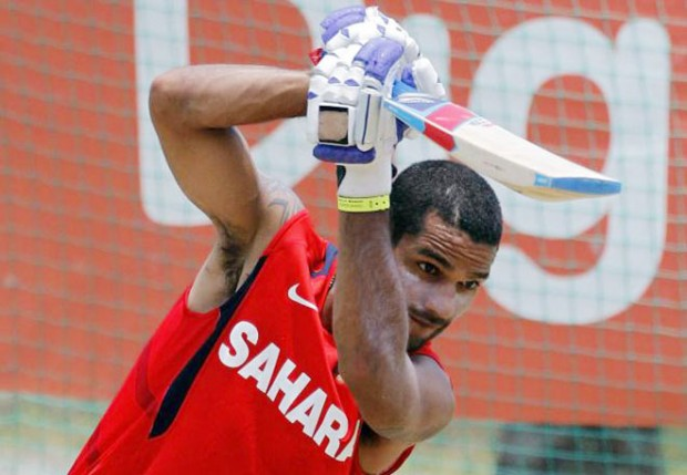 Shikhar Dhawan during Practice Session